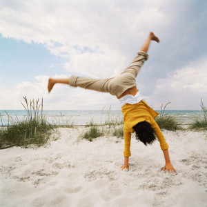 Cartwheel on Beach