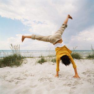 Cartwheel on Beach
