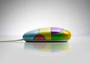 Colorful computer mouse